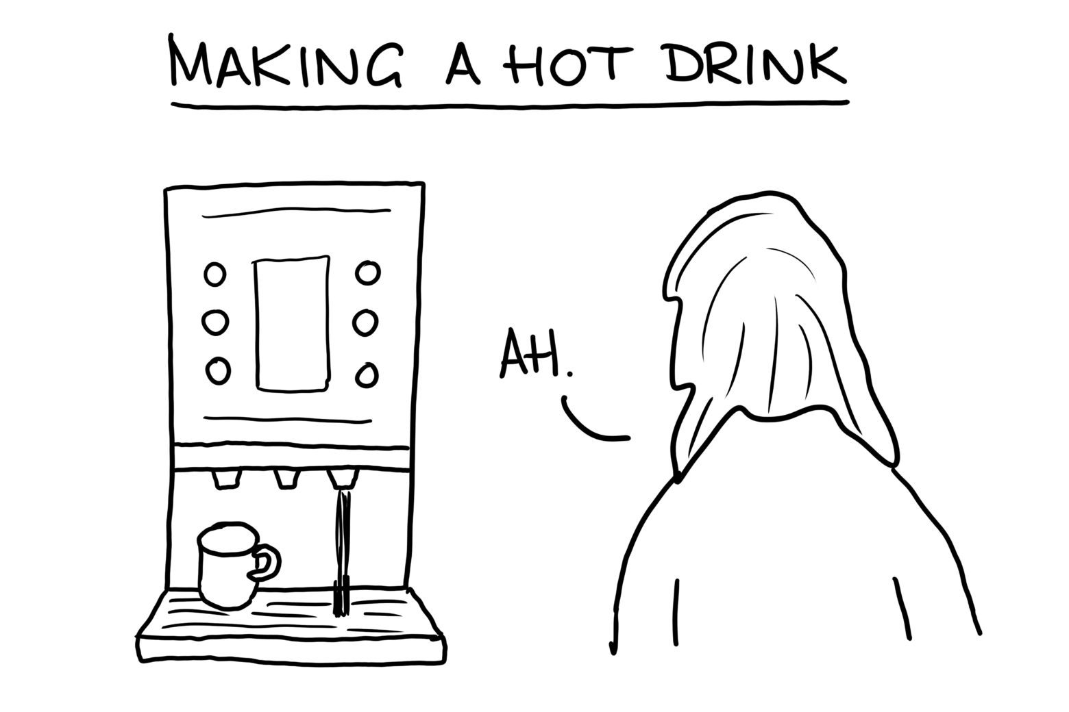 Making a hot drink