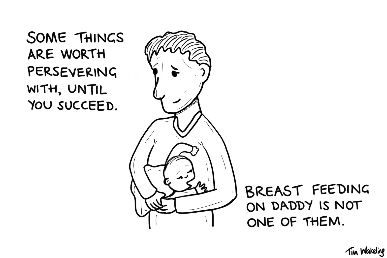 Breastfeeding on Daddy