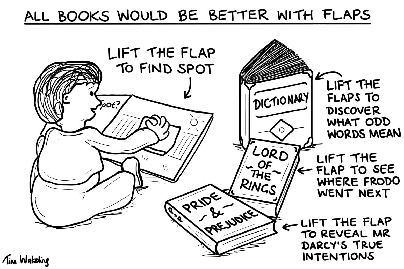 Baby cartoon about flap books