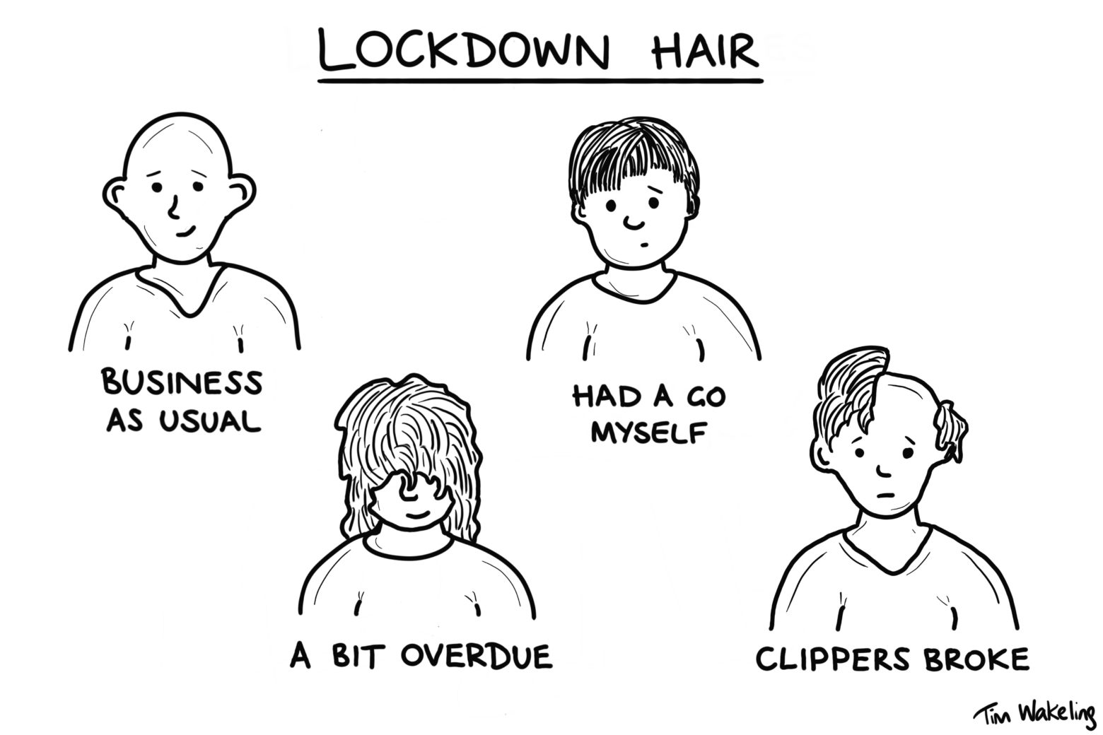 Lockdown hair