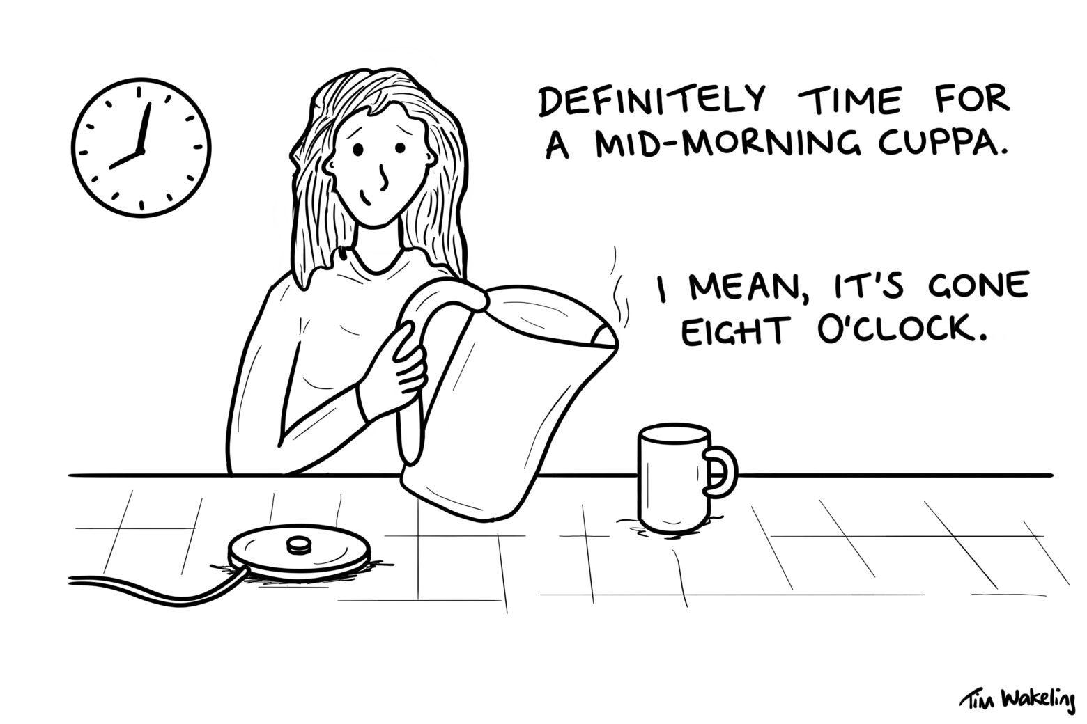Mid-morning cuppa