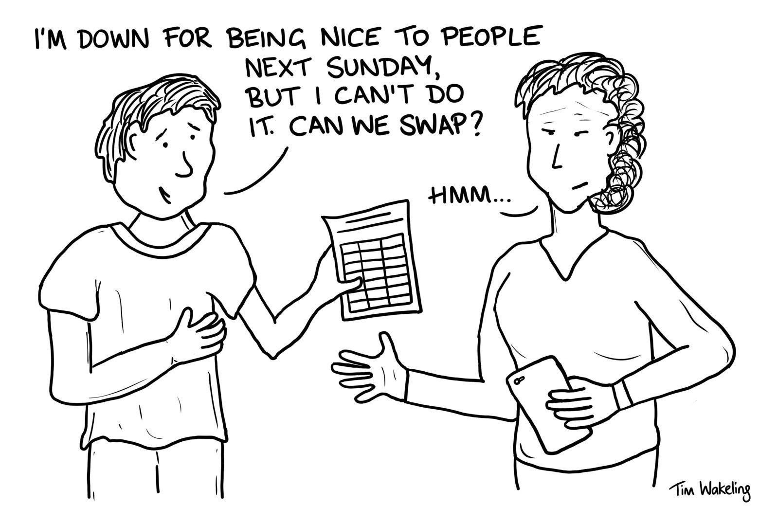 Rota for being nice