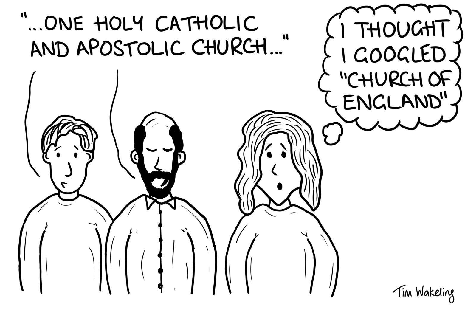 """One holy """"catholic"""" church?"""